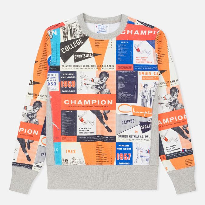 Мужская толстовка Champion Reverse Weave All Over Print Sport Grey