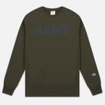Мужская толстовка Champion Reverse Weave Army Crew Neck Olive фото- 0