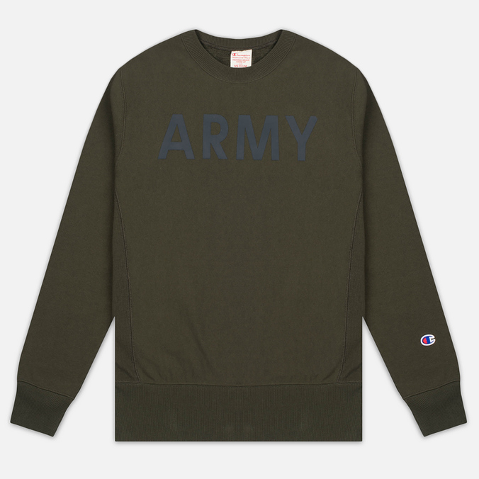 Мужская толстовка Champion Reverse Weave Army Crew Neck Olive