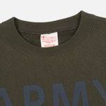 Мужская толстовка Champion Reverse Weave Army Crew Neck Olive фото- 1