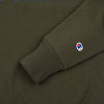 Мужская толстовка Champion Reverse Weave Army Crew Neck Olive фото- 3