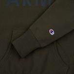 Мужская толстовка Champion Reverse Weave Army Hoody Olive фото- 3