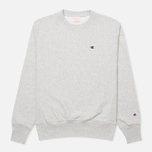 Champion Reverse Weave Basic Crew Neck Men's Sweatshirt Light Grey photo- 0