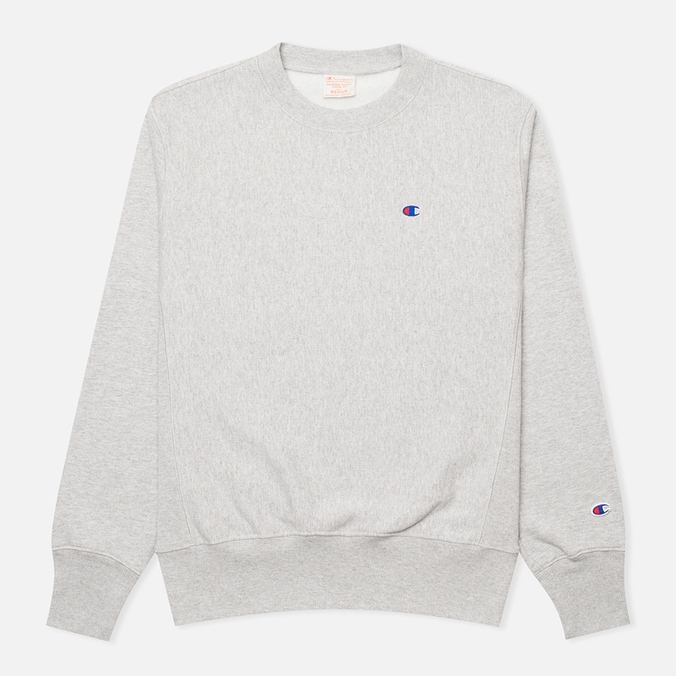 Champion Reverse Weave Basic Crew Neck Men's Sweatshirt Light Grey