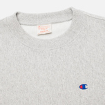 Champion Reverse Weave Basic Crew Neck Men's Sweatshirt Light Grey photo- 1