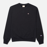 Champion Reverse Weave Basic Crew Neck Men's Sweatshirt Navy photo- 0