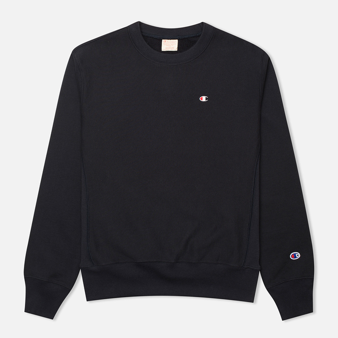 Champion Reverse Weave Basic Crew Neck Men's Sweatshirt Navy