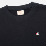 Мужская толстовка Champion Reverse Weave Basic Crew Neck Navy фото- 1