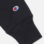 Champion Reverse Weave Basic Crew Neck Men's Sweatshirt Navy photo- 4