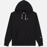 Мужская толстовка Champion Reverse Weave Basic Patch Logo Black фото- 0
