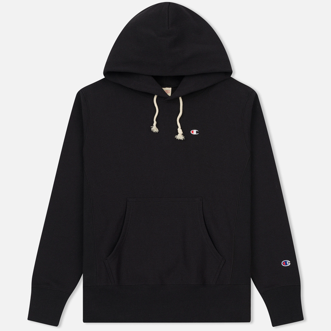 Мужская толстовка Champion Reverse Weave Basic Patch Logo Black
