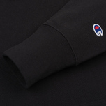 Мужская толстовка Champion Reverse Weave Basic Patch Logo Black фото- 3