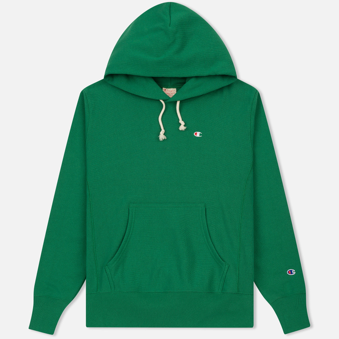 Мужская толстовка Champion Reverse Weave Basic Patch Logo Verdent Green