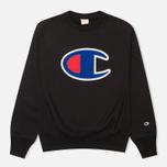 Champion Reverse Weave Big C Men's Sweatshirt Black photo- 0