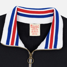 Мужская толстовка Champion Reverse Weave Big Script Block Half Zip Black/White фото- 1