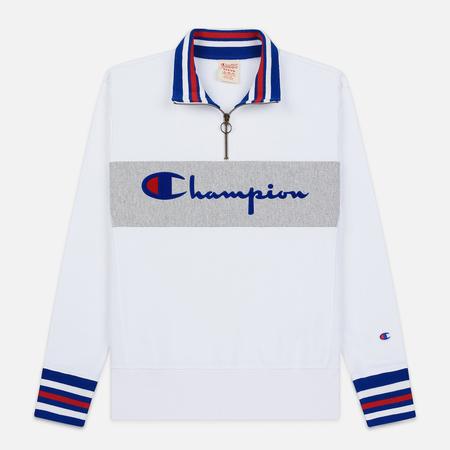 Мужская толстовка Champion Reverse Weave Big Script Block Half Zip White