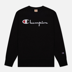 Мужская толстовка Champion Reverse Weave Big Script Crew Neck Black