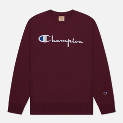 Мужская толстовка Champion Reverse Weave Big Script Crew Neck Maroon