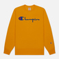 Мужская толстовка Champion Reverse Weave Big Script Crew Neck Orange фото - 0
