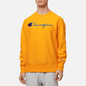 Мужская толстовка Champion Reverse Weave Big Script Crew Neck Orange фото - 2