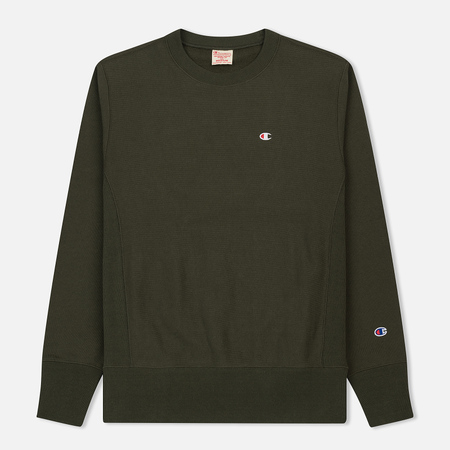 Мужская толстовка Champion Reverse Weave Classic Crew Neck Dark Green
