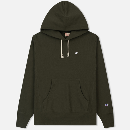 Мужская толстовка Champion Reverse Weave Classic Hooded Dark Green