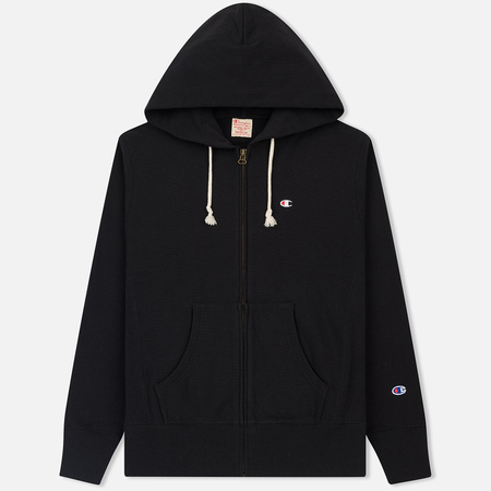 Мужская толстовка Champion Reverse Weave Classic Hooded Full Zip Black