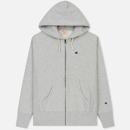 Мужская толстовка Champion Reverse Weave Classic Hooded Full Zip Heather Grey