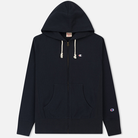 Мужская толстовка Champion Reverse Weave Classic Hooded Full Zip Navy