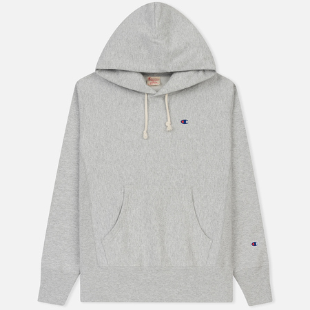 Мужская толстовка Champion Reverse Weave Classic Hooded Heather Grey