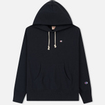 Мужская толстовка Champion Reverse Weave Classic Hooded New Navy фото- 0