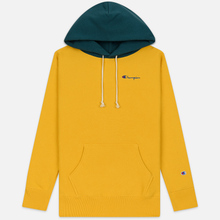 Мужская толстовка Champion Reverse Weave Color Block Hooded Golden Rod/Teal фото- 0