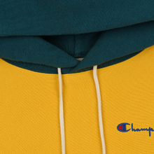 Мужская толстовка Champion Reverse Weave Color Block Hooded Golden Rod/Teal фото- 1