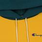 Мужская толстовка Champion Reverse Weave Color Block Hooded Golden Rod/Teal фото - 1
