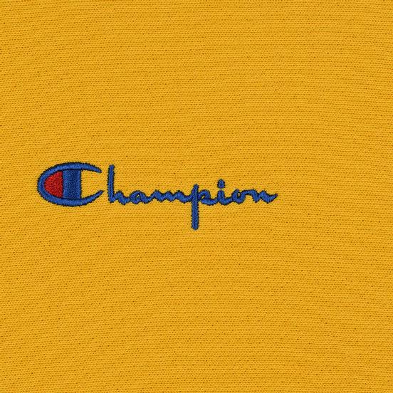 Мужская толстовка Champion Reverse Weave Color Block Hooded Golden Rod/Teal