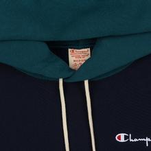 Мужская толстовка Champion Reverse Weave Color Block Hooded Navy/Teal фото- 1