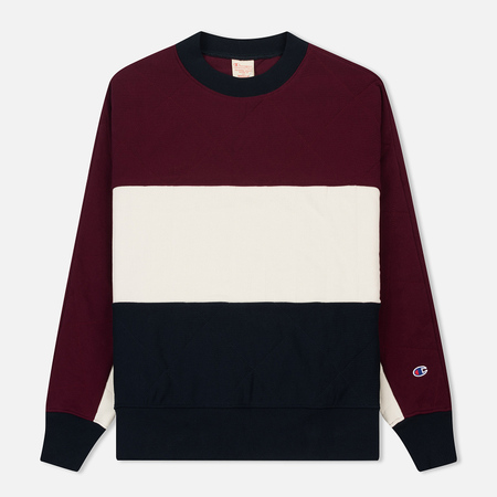 Мужская толстовка Champion Reverse Weave Colour Block Crew Neck Burgundy/White/Navy