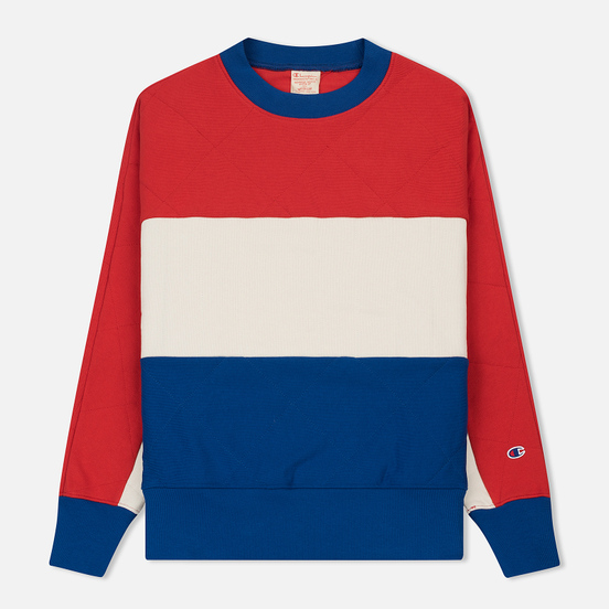Мужская толстовка Champion Reverse Weave Colour Block Crew Neck Red/White/Blue