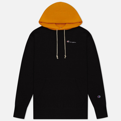 Мужская толстовка Champion Reverse Weave Contrast Hoodie Logo Script Black