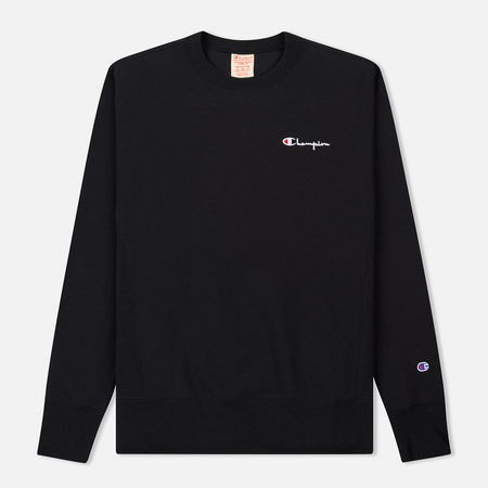 Мужская толстовка Champion Reverse Weave Crew Neck Brushed Fleece Black