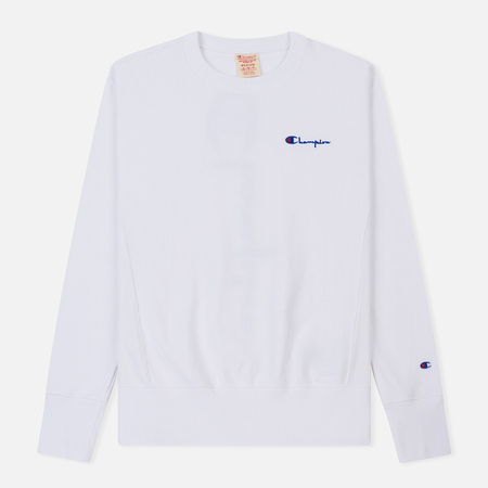 Мужская толстовка Champion Reverse Weave Crew Neck Brushed Fleece White