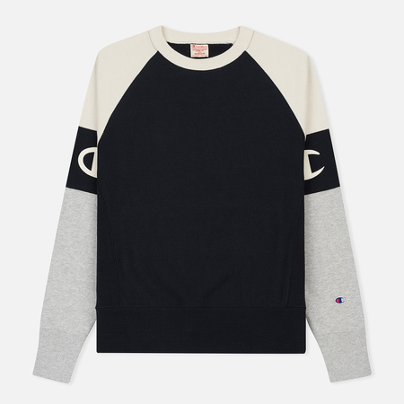 Мужская толстовка Champion Reverse Weave Crew Neck Colour Block Navy