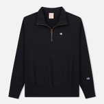 Мужская толстовка Champion Reverse Weave Half Zip Black фото- 0