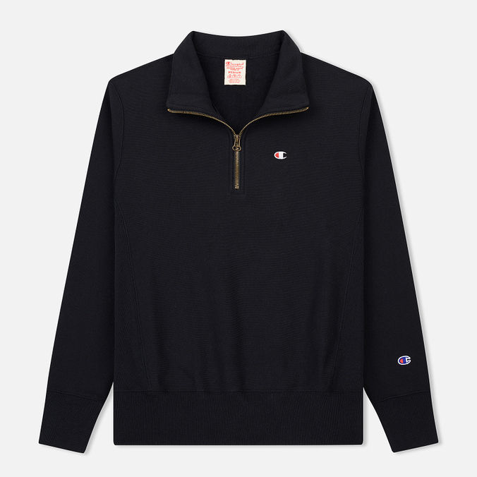Мужская толстовка Champion Reverse Weave Half Zip Black