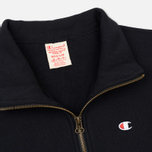 Мужская толстовка Champion Reverse Weave Half Zip Black фото- 1