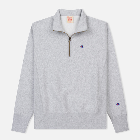 Мужская толстовка Champion Reverse Weave Half Zip Light Grey