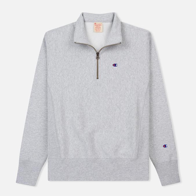 Мужская толстовка Champion Reverse Weave Half Zip Light Grey