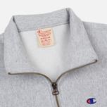 Мужская толстовка Champion Reverse Weave Half Zip Light Grey фото- 1