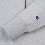 Мужская толстовка Champion Reverse Weave Half Zip Light Grey фото- 3