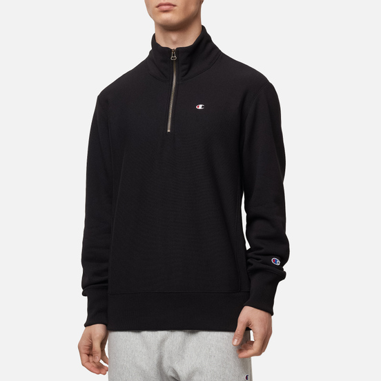 Мужская толстовка Champion Reverse Weave Half Zip-Up Black